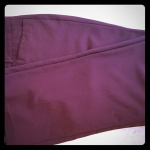 New York &Company Burgundy Dress Pants